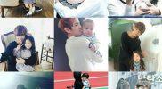 Kim Taehyung BTS bersama anak-anak