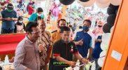 dalam seremonial pembukan cabang Bakso Kaki Sapi di PPS. Foto: Nadia/Progresnews.id/Foto Esklusif.