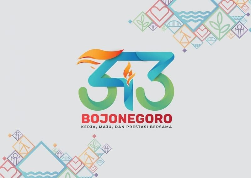 Logo HUT Bojonegoro ke-343 yang dibuat oleh Ilham Abitama.