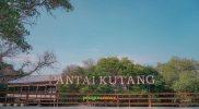 Pemandangan pintu masuk Wisata Pantai Kutang. Foto: Nasih/Progresnews.id.