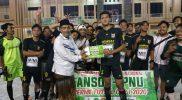 Perkuat Solidaritas Organisasi, GP Ansor dan IPNU IPPNU Kecamatan Cerme Adakan Turnamen Futsal