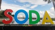 Landmark wisata sogo dayoh menghadap langsung pintu masuk. Foto: Ammy/Progresnews.id.