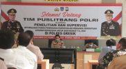 Kepolisian Resor Gresik mendapatkan kunjungan dari Pusat Penelitian dan Pengembangan (Puslitbang) Polri.