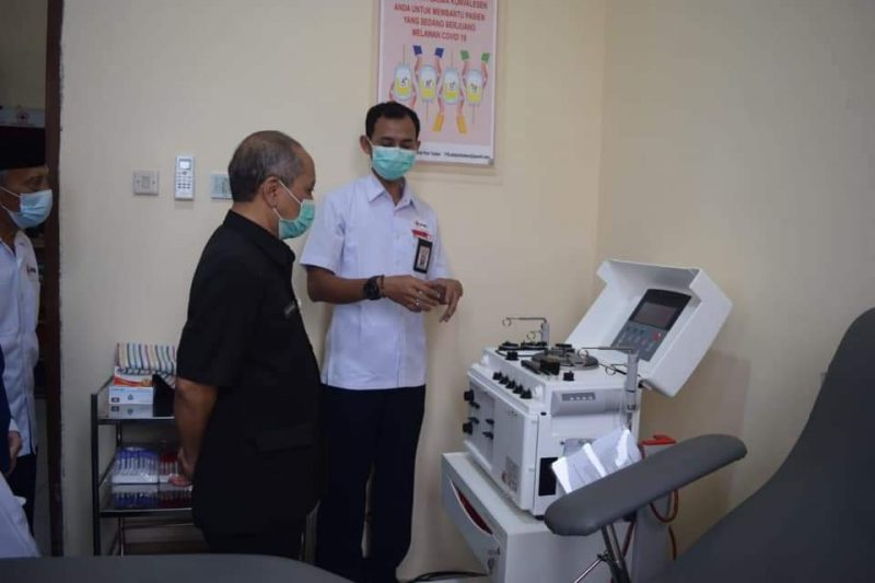 PMI Tuban Siap Terima Donor Plasma Konvalesen dari Penyintas Covid-19. Foto: Progresnews.id/Ans