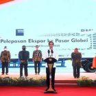 Presiden Jokowi Saat Meresmikan Ekspor Produk dari Istana Bogor. (Foto: Setpres)