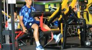 Kapten Persela, Eky Taufik saat menjalani latihan olah fisik. (Foto: Ist.)