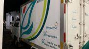 Mobil box yang mengangkut vaksin sinovac tahap pertama di Kabupaten Tuban.