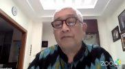 Kusnadi Rusmil saat presentasi daring Temu Media Perkembangan Vaksinasi, Sabtu (23/1).