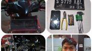 Satu pelaku pencurian di amankan satreskrim polres Lamongan setelah didapati mencuri sepeda ontel. Foto: Istimewa.