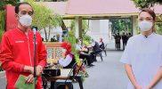 Presiden Jokowi saat sesi wawancara bersama dr. Reisa Broto Asmoro.