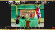 Serangkaian acara yang di adakan UKM Pramuka Unisla melalui media online zoom.