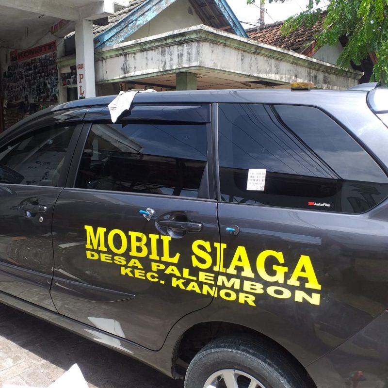 Mobil siaga Desa Palembon Kecamatan Kanor. Foto: Progresnews.id/Dela