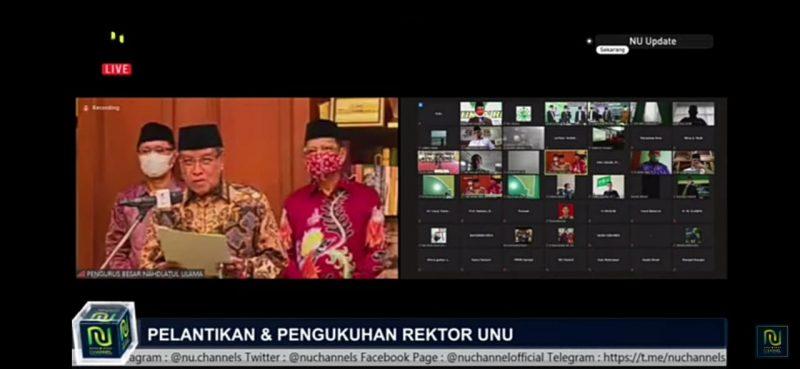Pelantikan & Pengukuhan Rektor UNUGIRI Bojonegoro. Foto: Progresnews.id/Dela Winda