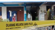 Penampakan lokasi pembakaran dan sisa abu rak sepatu di Ponpes Al-furqon, Kecamatan Laren, Kabupaten Lamongan, Jawa Timur, (Foto: Ist.)