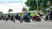 Operasi Yustisi di Bundaran GKB. Foto: Nufus/Progresnews.id.
