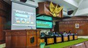Suasana penyampaian LKPJ Bupati TA. 2020 yang digelar secara virtual, Kamis (28/1).