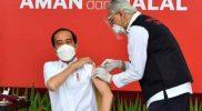 Presiden Jokowi Jadi Orang Pertama Jalani Vaksin Pertama, Disusul Beberapa Tokoh Lain di Indonesia