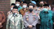 Kapolri Jenderal Listyo Sigit Prabowo bersama Kyai Said Aqil Siradj saat kunjungi Kantor PBNU