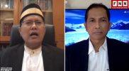 Video conference Ketua MUI, KH. Cholil Nafis dengan Hersubeno Arief membahas buzzer yang meresahkan masyarakat. Sumber: kanal YouTube Hersubeno Point.