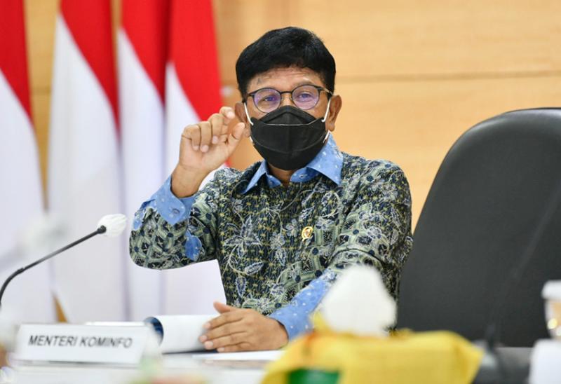 Menteri Komunikasi dan Informasi, Johnn G. Plate dukung pembuatan pedoman interpretasi resmi UU ITE, Selasa (16/2). Foto: kominfo.go.id.