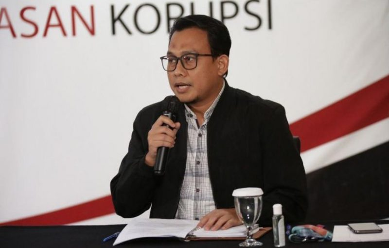 Plt Juru Bicara KPK Ali Fikri dalam konferensi pers Kinerja KPK Semester I 2020, Selasa (18/8/2020). Foto: Humas KPK.