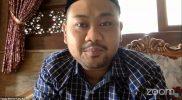 Fandi Akhmad Yani saat mengikuti webinar Beritabaru.co, Selasa (9/2).