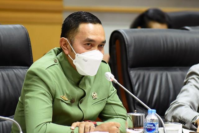 Wakil Ketua Komisi III DPR-RI, Ahmad Sahroni mendesak Polri untuk segera mengusut kasus Aisha Weddings, Kamis (11/2). Foto: dpr.go.id.