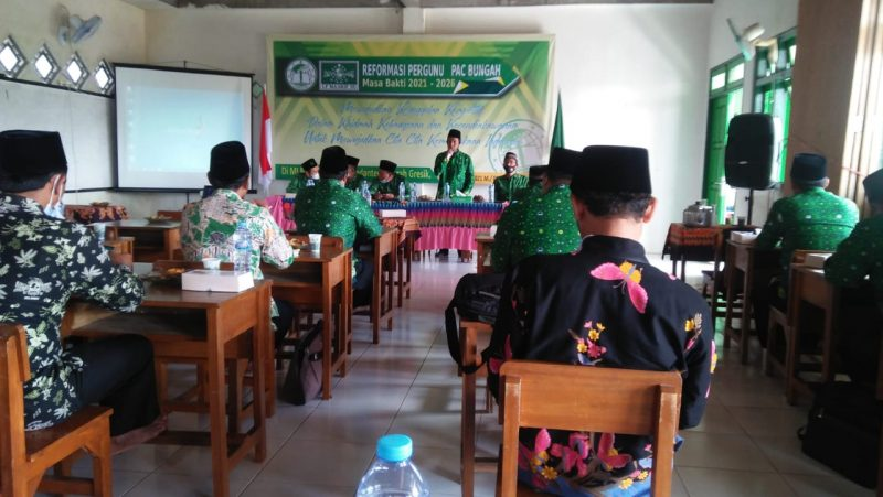 Suasana kegiatan Reformasi Pergunu Kecamatan Bungah di MI Mambaul Ulum Bedanten, Ahad (21/02). Foto: Alek