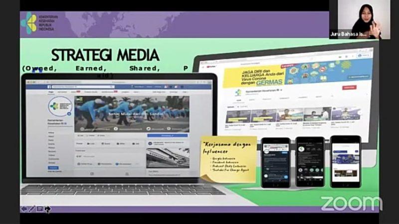Paparan Jubir Vaksinasi Siti Nadia, dalam Webinar Series Kedua Melawan Infodemi Covid-19 dengan tajuk