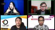 """Elin Yunita Kristanti, Wapemred Liputan6.com dalam Webinar Series """"Membangun Ketahanan Komunitas, Menghadapi Infodemi"""", pada Senin (15/2)."""