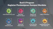 8 Program Kegiatan Pembelajaran Kampus Merdeka.