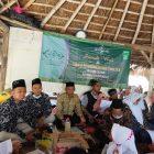 Anggota Lazisnu Ranting Deda Petiyintunggal Kecamatan Dukun Kabupaten Gresik saat melakukan evaluasi, LPJ, dan proker pada hari Minggu (7/2).