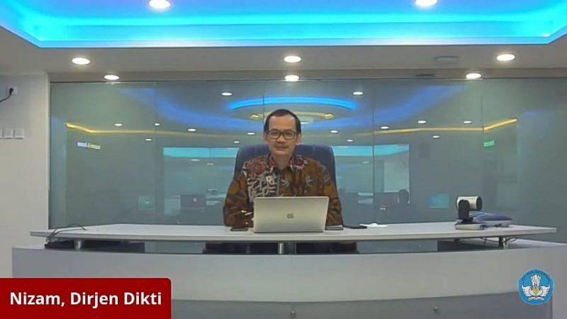 Nizam, Dirjen Dikti Kemendikbud dalam sambutannya pada pembukaan Program Bangkit 2021, Senin (15/2).