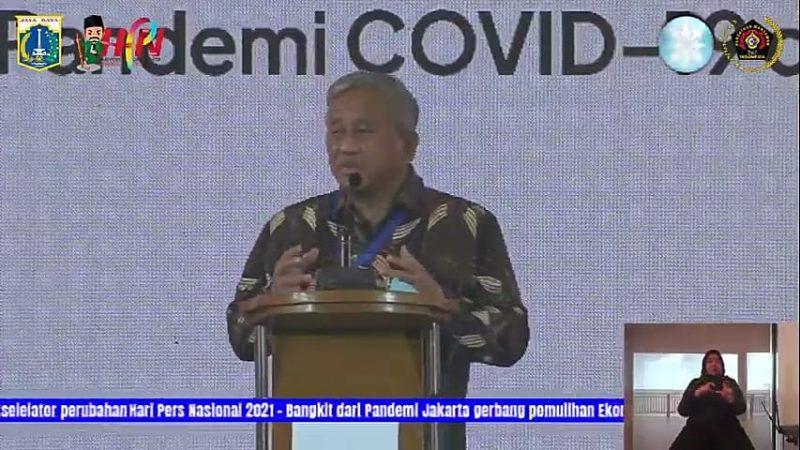 Ketua Dewan Pers memberi sambutan pada Konvensi Nasional Media Masa