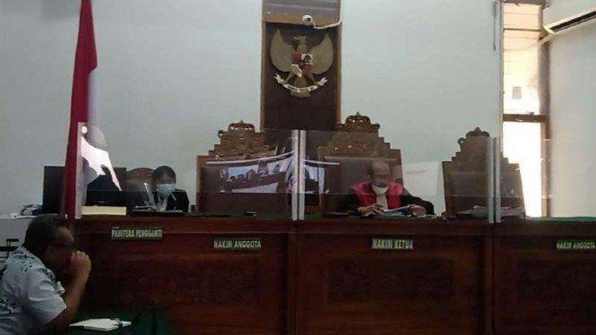 Suasana sidang gugatan praperadilan yang diajukan keluarga Alm. M. Suci Khadavi, Selasa(9/2). Foto: detikcom.