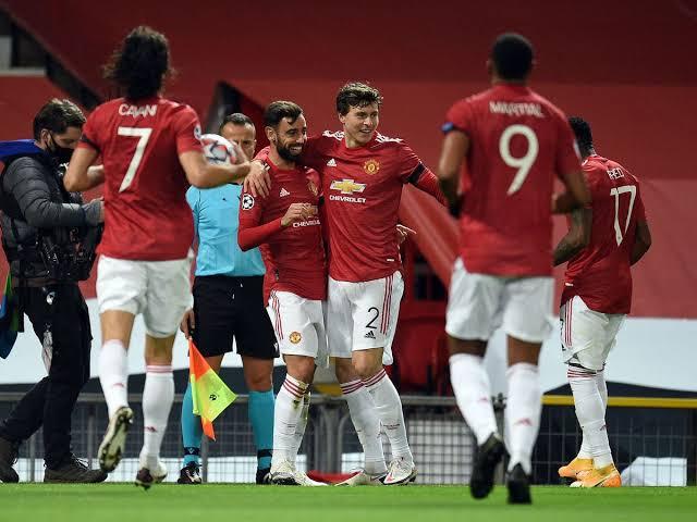 Para pemain Manchester United merayakan gol yang dicetak kegawang Southampton. Foto: Getty
