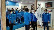 Ketua Umum BMI Farkhan Evendi melantik dan mendeklarasikan kepengurusan DPC Kota Surabaya dan Kabupaten Sidoarjo di Kantor DPC Partai Demokrat Kota Surabaya, Selasa (2/3).