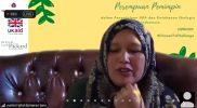"""Sumini, Perempuan Pemimpin dari Damaran Baru Aceh, saat memberikan testimoni dalam webinar """"Memperkuat Kepemimpinan Perempuan dalam Pengelolaan SDA dan Ketahanan Ekologis di Indonesia"""" pada Kamis (25/3)."""