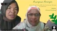 "Mama Asnat dan Mama Rahma saat memberikan testimoni dalam webinar ""Memperkuat Kepemimpinan Perempuan dalam Pengelolaan SDA dan Ketahanan Ekologis di Indonesia"", Kamis (25/3)."