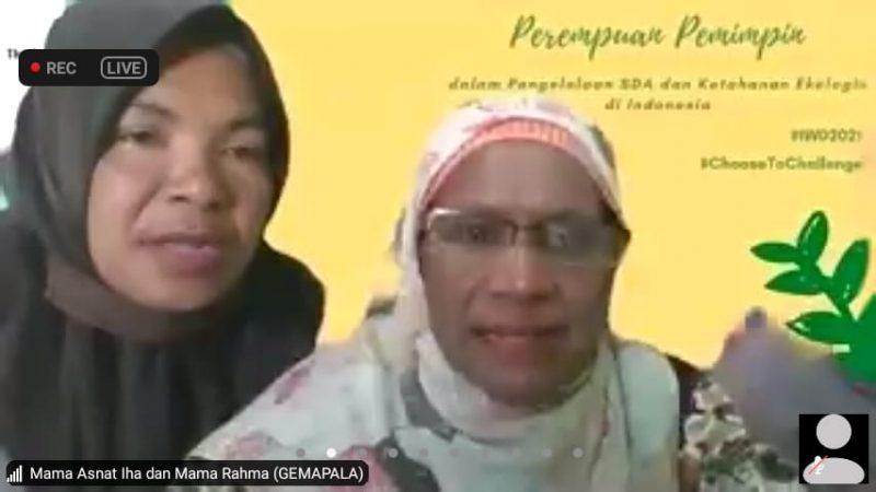 Mama Asnat dan Mama Rahma saat memberikan testimoni dalam webinar