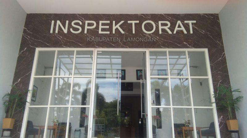 Kantor Inspektorat Kabupaten Lamongan saat didatangi pewarta. Foto : Progresnews.id /Ammy