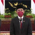 Menteri Nadiem Makarim saat konfrensi pers usai dilantik menjadi Menteri Pendidikan, Kebudayaan, Riset dan Teknologi. Foto: Setkab RI.