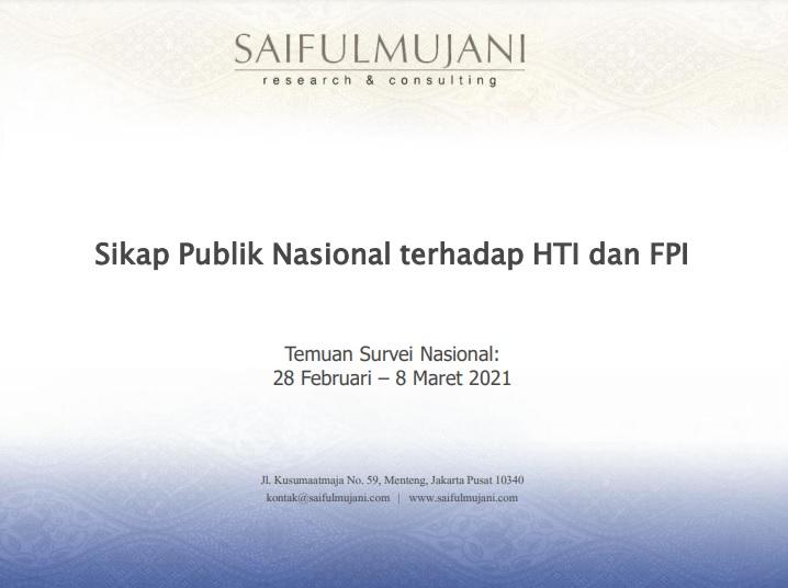 Kaver hasil temuan survei SMRC.