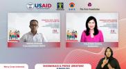 Plt Kepala Pusat Data Informasi dan Komunikasi (Pusdatinkom) Kebencanaan BNPB, Abdul Muhari saat memberikan sambutan penutup pada diseminasi dan press briefing bertajuk Sinergi dan Pelibatan Aktif Kelompok Rentan Termarginalkan untuk Komunikasi Risiko dan Perlindungan Pandemi yang Setara secara daring, Selasa (10/8).
