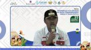 Bupati Kabupaten Fakfak Untung Tamsil saat menjadi pembicara pada acara puncak Festival Torang Pu Para Para dengan tema Memperkuat Kolaborasi Pasar untuk Pengembangan UMKM di Tanah Papua, Jumat (27/8).