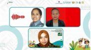 Analis Kebijakan di Setda Provinsi Papua, Martha Mandosir dan Peneliti Universitas Papua Yustina Lina Dina Wambrauw bersama Aulina Umaza sebagai moderator dalam diskusi Seri Podcast 1 yang bertajuk 'Perempuan Hutan Lestari di tanah Papua', Rabu (25/8).