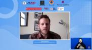 Deputi Direktur Democratic Resilience & Governance USAID Indonesia, Anders Mantius saat memberi sambutan pembuka dalam Webinar Pelacakan Kontak: Mengoptimalkan Dukungan Masyarakat dalam 3T yang merupakan bagian dari rangkaian kegiatan dari program LeaN ON, Senin (2/8). Foto: Youtube BNPB.