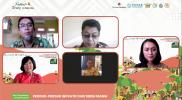Para pemateri dalam acara Seri Diskusi Pengelolaan Produk Inovatif Pangan Papua: Festival Torang Pu Para Para, Senin (16/8).