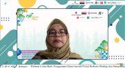 Deputi Edukasi dan Sosialisasi, Partisipasi dan Kemitraan Badan Restorasi Gambut dan Mangrove (BRGM), Myrna Safitri saat menjadi penanggap dalam acara Webinar Cerita Baik dari Praktik TAKE dan TAPE di Indonesia: Penggunaan Dana Insentif Fiskal berbasis Ekologi dan Dampaknya bagi Agenda Perlindungan Lingkungan, Kamis (14/10).