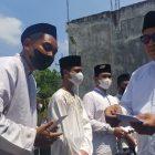 Ketua DPC PKB Lamongan saat mengikuti acara santunan santri yatim-piatu dalam rangka memperingati Hari Santri Lamongan, Jumat (22/10). Foto: Ivan A/Progresnews.id.